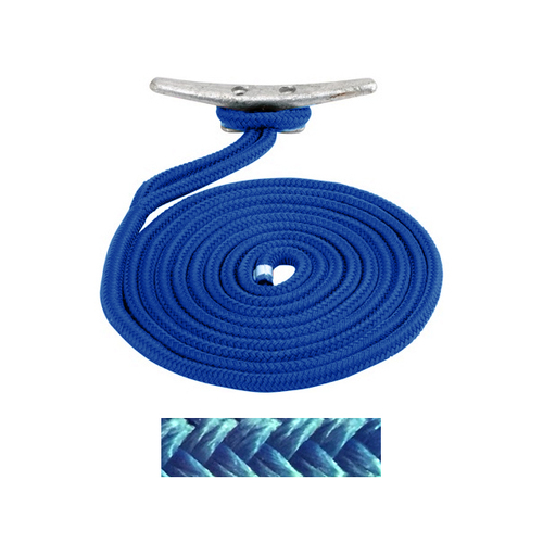 Sea Dog Braided Nylon Dock Line - Blue