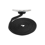 Sea Dog 302110010BK-1 Braided Nylon Dock Line - Black