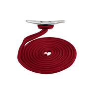Sea Dog Braided Nylon Dock Line - Red