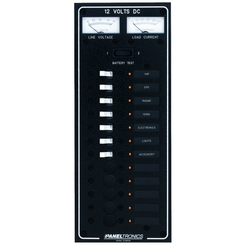 Paneltronics Standard DC 12 Position Breaker Panel w\/LEDs