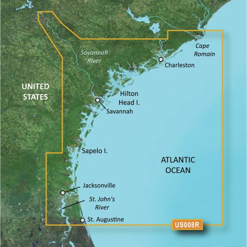 Garmin BlueChart g2 Vision HD - VUS008R - Charleston to Jacksonville - microSD\/SD
