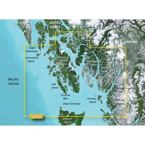 Garmin BlueChart g2 Vision HD - VUS024R - Wrangell - Dixon Entrance - microSD\/SD