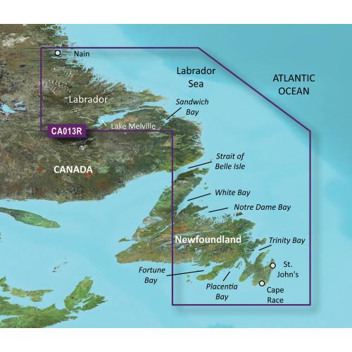 Garmin BlueChart g2 Vision HD - VCA013R - Labrador Coast - microSD\/SD