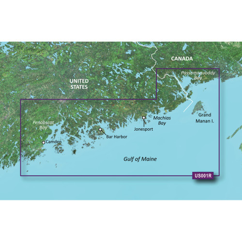 Garmin BlueChart g2 Vision HD - VUS001R - North Maine - microSD\/SD