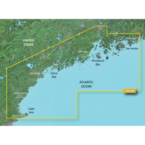 Garmin BlueChart g2 Vision HD - VUS002R - South Maine - microSD\/SD