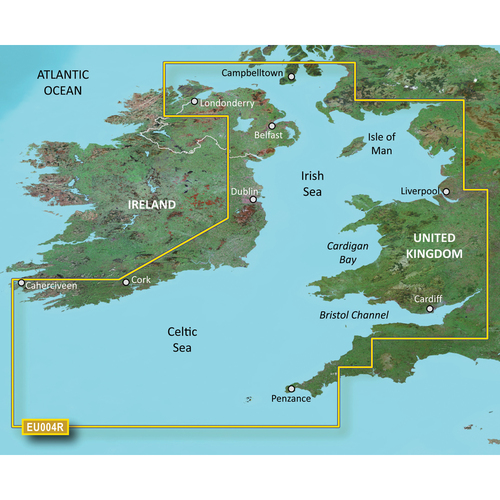 Garmin BlueChart g2 Vision HD - VEU004R - Irish Sea - microSD\/SD