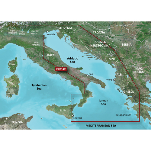 Garmin BlueChart g2 Vision HD - VEU014R - Italy, Adriatic Sea - microSD\/SD