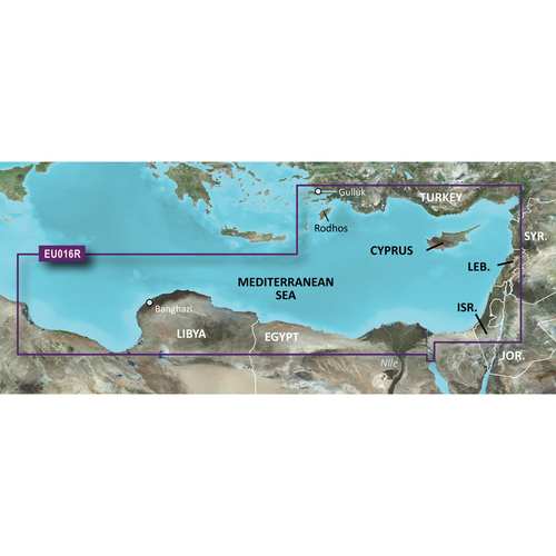 Garmin BlueChart g2 Vision HD - VEU016R - Mediterranean Southeast - microSD\/SD