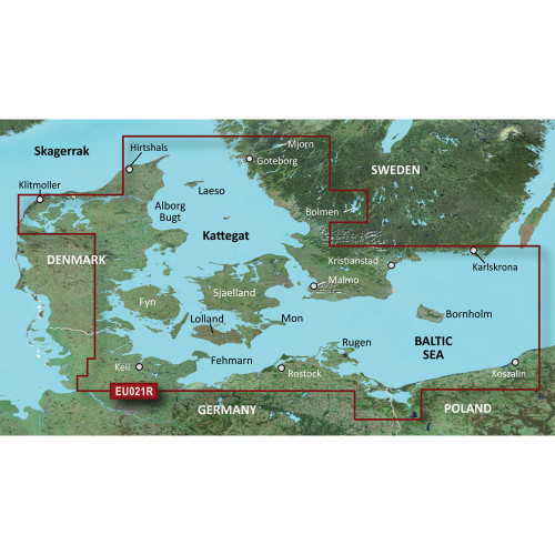 Garmin BlueChart g2 Vision HD - VEU021R - Denmark East & Sweden Southeast - microSD\/SD