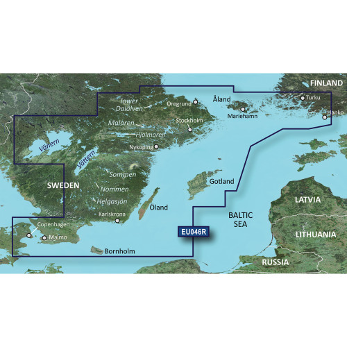 Garmin BlueChart g2 Vision HD - VEU046R - regrund, land to Malm - microSD\/SD