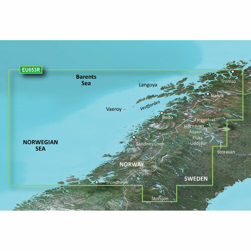 Garmin BlueChart g2 Vision HD - VEU053R - Trondheim - Troms - microSD\/SD