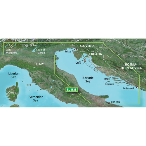 Garmin BlueChart g2 Vision HD - VEU452S - Adriatic Sea, North Coast - microSD\/SD