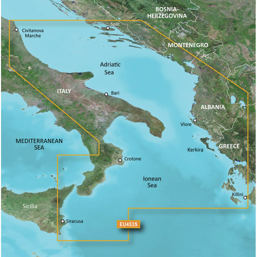 Garmin BlueChart g2 Vision HD - VEU453S - Adriatic Sea, South Coast - microSD\/SD