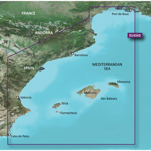 Garmin BlueChart g2 Vision HD - VEU454S - Barcelona & Valencia - microSD\/SD