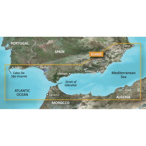 Garmin BlueChart g2 Vision HD - VEU455S - Alicante to Cabo de Sao Vicente - microSD\/SD