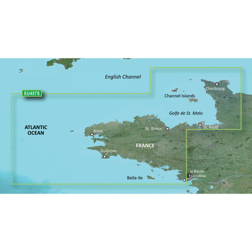 Garmin BlueChart g2 Vision HD - VEU457S - Bretagne - microSD\/SD