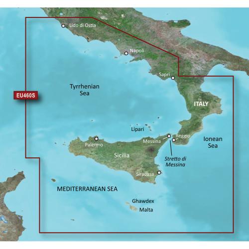 Garmin BlueChart g2 Vision&reg HD - VEU460S - Sicily to Lido di Ostia - microSD\/SD