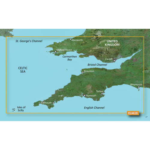 Garmin BlueChart g2 Vision HD - VEU463S - Bristol Channel & England SW - microSD\/SD