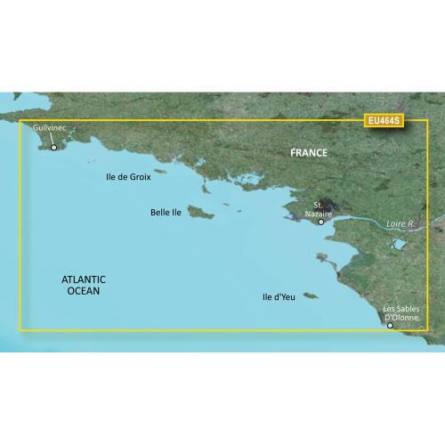 Garmin BlueChart g2 Vision HD - VEU464S - Penmarch to Les Sables d'Olonne - microSD\/SD