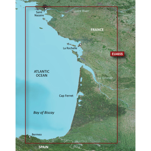Garmin BlueChart g2 Vision HD - VEU465S - La Baule to San Sebastian - microSD\/SD