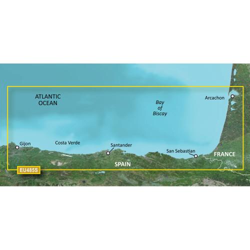 Garmin BlueChart g2 Vision HD - VEU485S - Fuenterrabia to Gijon - microSD\/SD