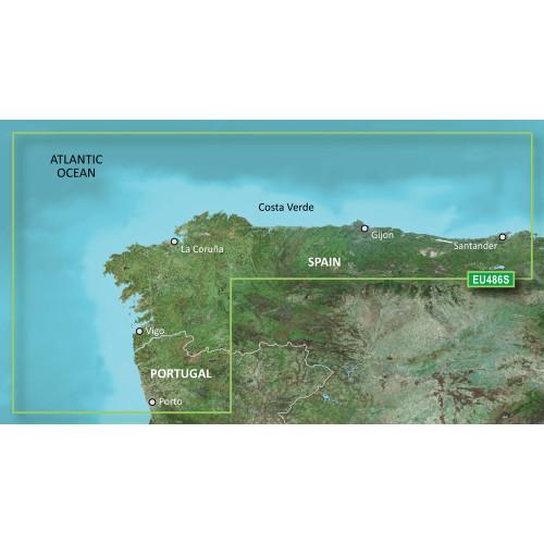 Garmin BlueChart g2 Vision HD - VEU486S - Galicia & Asturias - microSD\/SD