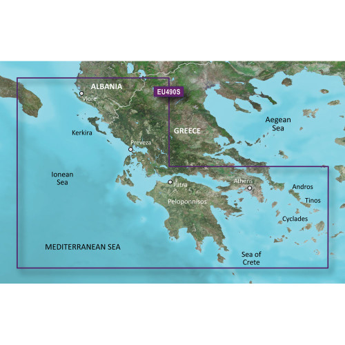 Garmin BlueChart g2 Vision HD - VEU490S - Greece West Coast & Athens - microSD\/SD