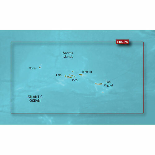 Garmin BlueChart g2 Vision HD - VEU502S - Azores Islands - microSD\/SD