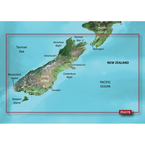 Garmin BlueChart g2 Vision HD - VPC417S - New Zealand South - microSD\/SD