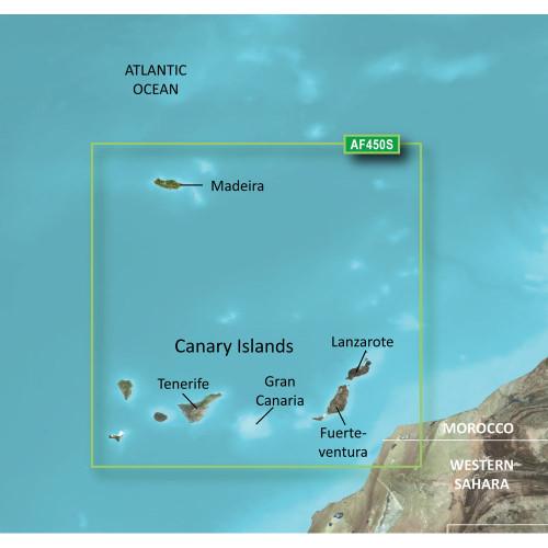 Garmin BlueChart g2 Vision HD - VAF450S - Madeira & Canary Islands - microSD\/SD