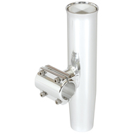 """Lee's Clamp-On Rod Holder - Silver Aluminum - Horizontal Mount - Fits 1.660"""" O.D. Pipe"""