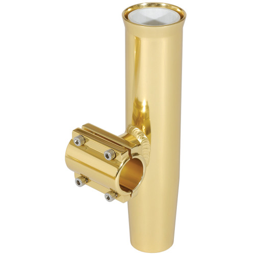 """Lee's Clamp-On Rod Holder - Gold Aluminum - Horizontal Mount - Fits 1.900"""" O.D. Pipe"""