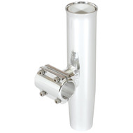 "Lee's Clamp-On Rod Holder - Silver Aluminum - Horizontal Mount - Fits 2.375"" \/ 2-3\/8"" O.D. Pipe"