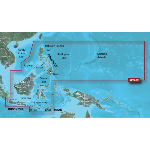 Garmin BlueChart g2 Vision HD - VAE005R - Philippines - Java Mariana Is. - microSD\/SD