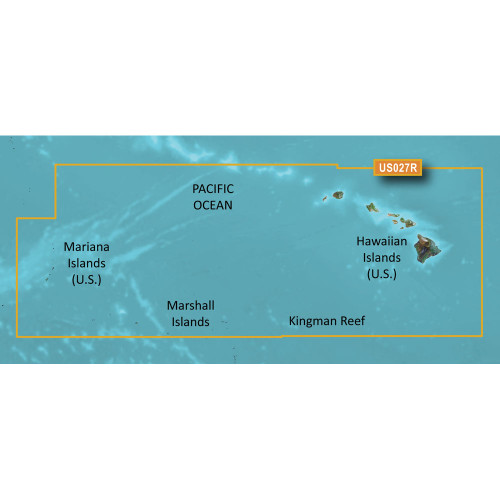Garmin BlueChart g2 HD - HXUS027R - Hawaiian Islands - Mariana Islands - microSD\/SD
