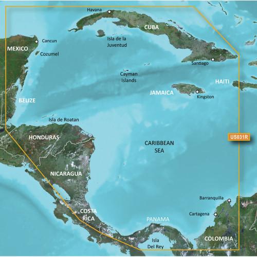 Garmin BlueChart g2 HD - HXUS031 - Southwest Caribbean - microSD\/SD