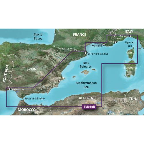Garmin BlueChart g2 HD - HXEU010R - Spain Mediterranean Coast - microSD\/SD
