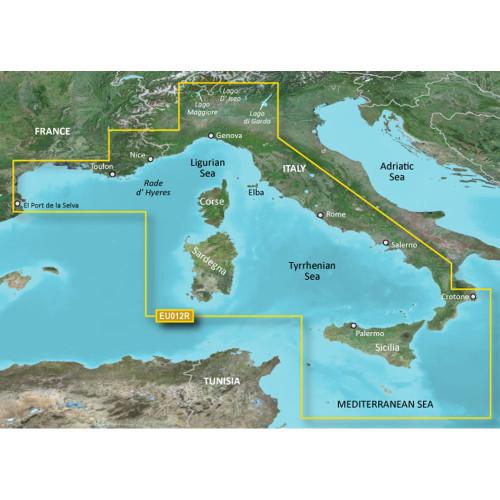 Garmin BlueChart g2 HD - HXEU012R - Italy West Coast - microSD\/SD