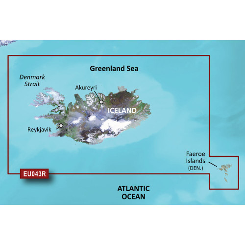 Garmin BlueChart g2 HD - HXEU043R - Iceland & Faeroe Islands - microSD\/SD