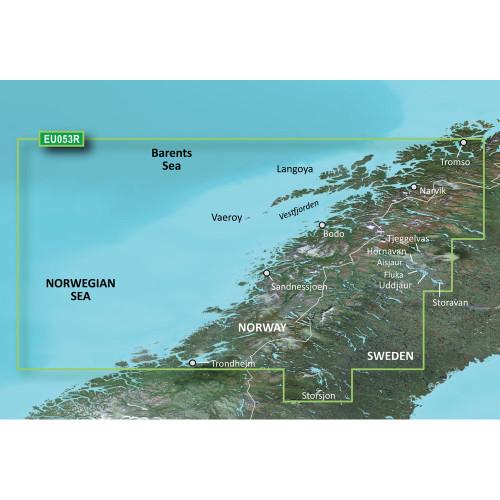 Garmin BlueChart g2 HD - HXEU053R - Trondheim - Tromso - microSD\/SD
