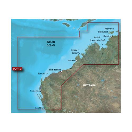 Garmin BlueChart g2 HD - HXPC411S - Geraldton To Darwin - microSD\/SD