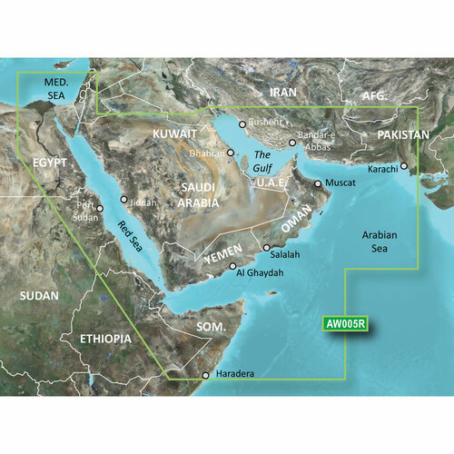 Garmin BlueChart g2 HD - HAW005R - The Gulf & Red Sea - microSD\/SD