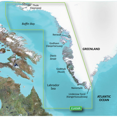 Garmin BlueChart g2 Vision HD - VEU058R - Greenland West - microSD\/SD