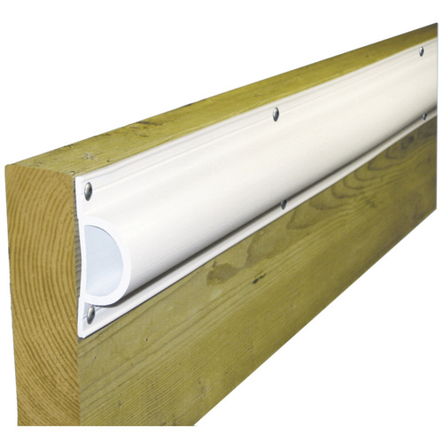 "Dock Edge Standard ""D"" PVC Profile 16ft Roll - White"