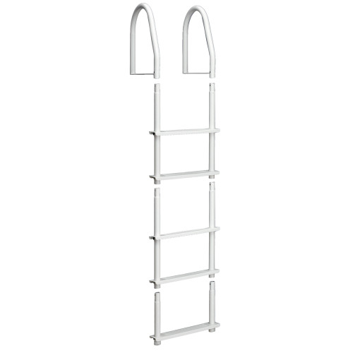 Dock Edge Fixed 5 Step Ladder Bight White Galvalume