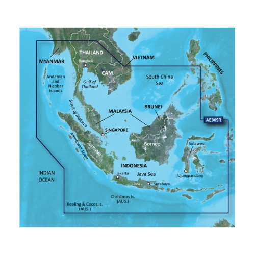 Garmin BlueChart g2 HD - HXAE009R - Singapore \/ Malaysia \/ Indonesia - microSD \/ SD