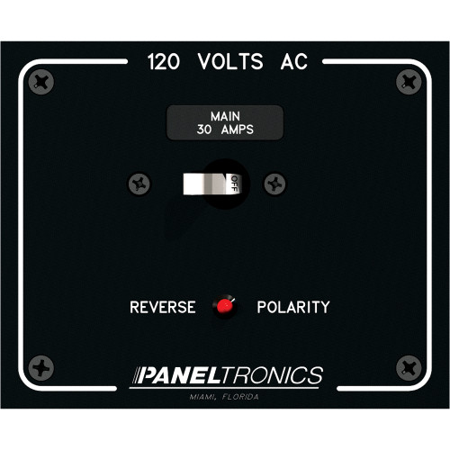 Paneltronics Standard Panel AC Main Double Pole w\/30Amp CB & Reverse Polarity Indicator