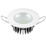 Lumitec Mirage - Flush Mount Down Light - Glass Finish\/No Bezel - 4-Color Red\/Blue\/Purple Non Dimming w\/White Dimming