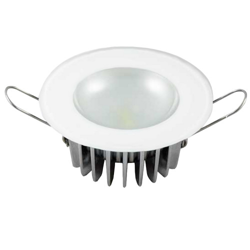 Lumitec Mirage - Flush Mount Down Light - Glass Finish\/No Bezel - 2-Color White\/Blue Dimming