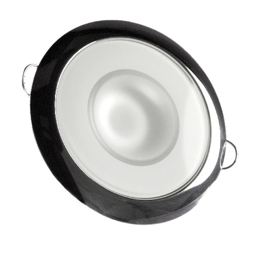 Lumitec Mirage - Flush Mount Down Light - Glass Finish\/Polished SS Bezel 2-Color White\/Red Dimming